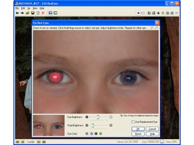 Red eye removal and general photo editing