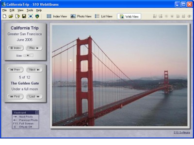 Easily create elegant web photo albums